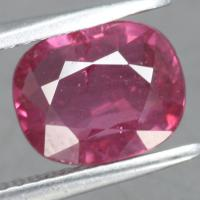 gemstone: ทับทิม-Ruby size: 8.7x7.0x4.5 carat: 2.96Ct.