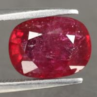 gemstone: ทับทิม-Ruby size: 10.0x7.5x5.0  carat: 3.85Ct.
