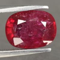 gemstone: ทับทิม-Ruby size: 10.0x7.5x5.0  carat: 3.85Ct.