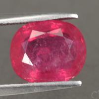 gemstone: ทับทิม-Ruby size: 10.0x8.3x4.4 carat: 3.87Ct.