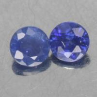 gemstone: ไพลิน-Blue Sapphire size: 2.0x2.0 carat: 0.55Ct.