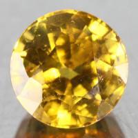 gemstone: บุษราคัม-Yellow Sapphire size: 5.2x5.2 carat: 0.80Ct.