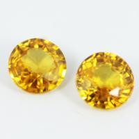 g1-374-7  yellow sapphire พลอยบุษราคัม