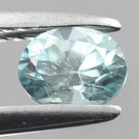 gemstone: เพทาย (Zircon) size: 5.5x4.5 carat: 1.42Ct.