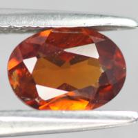 gemstone: สเปสซาไทท์-Spessartine size: 7.0x5.1x3.0 carat: 1.00Ct.