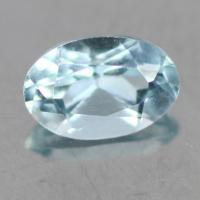 gemstone: อะคัวมารีน-Aquamarine size: 6.0x4.0 carat: 0.94Ct.