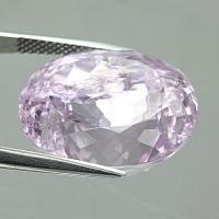 gemstone: คุนไซต์-Kunzite size: 18.7x15.9x12.7 carat: 26.37Ct.
