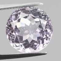 gemstone: คุนไซต์-Kunzite size: 13.6 x 13.6 carat: 11.38Ct.