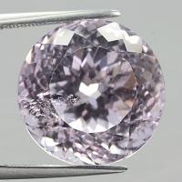 gemstone: คุนไซต์-Kunzite size: 16.6 x 16.6 carat: 26.70Ct.