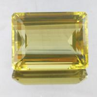 gemstone: เลมอนควอทซ์ - Lemon Quartz size: 22.0x16.5x11.0 carat: 46.75Ct.