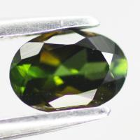 gemstone: กรีนทัวมาลีน-Green Tourmaline size: 7.0x5.0x3.5 carat: 0.82Ct.