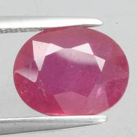 gemstone: ทับทิม-Ruby size: 10.0x8.0x4.2 carat: 3.16Ct.