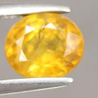 yellow sapphire พลอยบุษราคัม g1-559-76