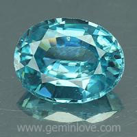 g1-594-1 Blue zircon