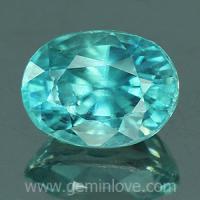 g1-594-13 Blue Zircon พลอยเพทาย