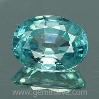 g1-594-18 Blue zircon พลอยเพทาย