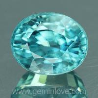 g1-594-28 Blue Zircon พลอยเพทาย