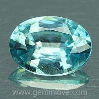 g1-594-30 Blue Zircon พลอยเพทาย