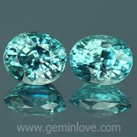 g1-594-38 Blue Zircon พลอยเพทาย