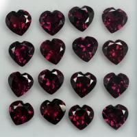 g1-681 Rhodorite garnet พลอยโรโดไรท์ ทรงหัวใจ
