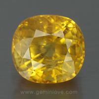 yellow sapphire พลอยบุษราคัม g1-723-1