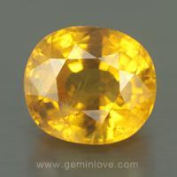 yellow sapphire พลอยบุษราคัม g1-723-2