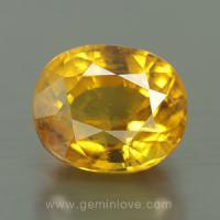 yellow sapphire พลอยบุษราคัม g1-724-3
