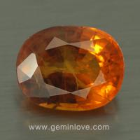 yellow sapphire พลอยบุษราคัม g1-725-6