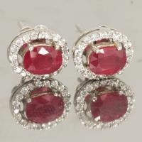 e1-119 ต่างหูพลอยทับทิม ruby earring