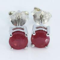 e1-50 ruby earring ต่างหูพลอยทับทิม