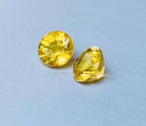 yellow sapphire พลอยบุษราคัม บางกะจะ จันทบุรี สีเหลืองส้ม เสริมดวง ดูดวง แก้ชง แหวน พลอยแท้