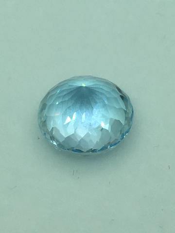 Blue Topaz พลอย บลูโทพาส สีฟ้า ต่างหู เสริมดวงวันศุกร์ เสริมราศีกันย์ sapphire พลอยแท้ ruby มีใบเซอร์ฯ