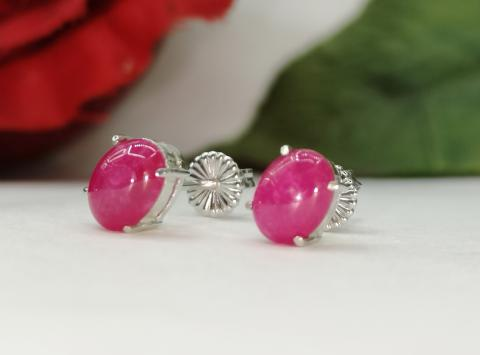ruby ring แหวน พลอยทับทิม ต่างหูพลอยแดง  พลอยแท้เม็ดเดี่ยว pink gold วันเกิด แก้ชง ดูดวง อัญมณี ราศีกรกฏ เสริมดวง พลอยทำต่างหู