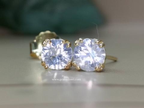 พลอยเพทายขาว diamond เพชร ต่างหู ใบรับประกัน ใบเซอร์ พลอยแท้ พลอยเสริมดวง เสริมราศี  แก้ชง  เสริมวันเกิด