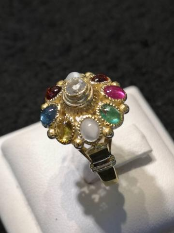 แหวนพลอยนพเก้า เพชร เพทาย ไพลิน ทับทิม มรกต บุษราคัม โกเมน มุกดาหาร ไพฑูรย์ พลอยเสริมดวง ดูดวง แก้ชง เสริมราศี เสริมธาตุ พลอยแท้