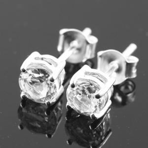 White Topaz ไว้ท์โทแพส ต่างหูเพชร earring พลอยแท้ ของขวัญ อัญมณีสีขาว ดูดวง เสริมดวง พลอยดิบ เพชร ราศี เมษ แหวน มีใบเซอร์ฯ