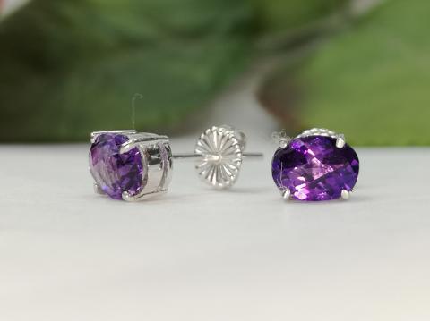 ต่างหู amethyst ring พลอยแท้ อะเมทิสต์ อัญมณี ราศีกุม สีม่วง หัวแหวน เสริมดวงวันเสาร์ เสริมทรัพย์ พลอยดิบ พลอยแท้ มีใบเซอร์ฯ