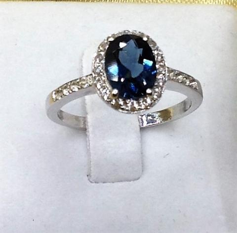 London Blue Topaz แหวน พลอยแท้ พลอยไพลิน พลอยลอนดอนบลูโทพาส อัญมณีสีน้ำเงิน ราศีกันย์ เสริมดวง แก้ชง ดูดวง สร้อยข้อมือ กำไล