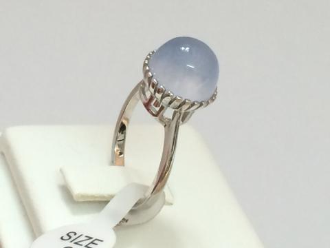 Blue chalcedony พลอยบลูแคลสิโดนี่ พลอยสีฟ้า แหวนเสริมดวง วันศุกร์ เสริมราศีธนู พลอยดิบ พลอยแท้ มีใบเซอร์ฯ ดูดวง เสริมสุขภาพ แก้ชง