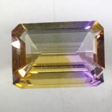 gemstone: อเมทริน-Ametrine size: 25.2x15.5x7.1 carat: 20.75Ct.