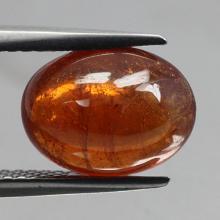 gemstone: สเปสซาไทท์-Spessartine size: 10.9x8.2x5.5 carat: 5.13Ct.