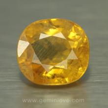 yellow sapphire พลอยบุษราคัม g1-724-1