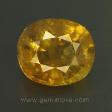 yellow sapphire พลอยบุษราคัม g1-724-7