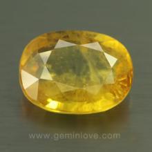 yellow sapphire พลอยบุษราคัม g1-724-8