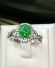 หยกพม่า เจไดหยก แหวนหยก หยกแท้ jade ring พลอยสีเขียวเสริมดวง หยกแก้ชง