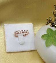 แหวนพลอยเพทายขาว white zircon พลอยแท้ r1-598