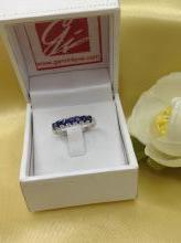 Blue Sapphire Ring, แหวนพลอยไพลิน r1-599