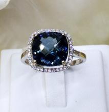London Blue Topaz สีน้ำเงิน อัญมณี วันศุกร์ พลอย เสริมราศี วันเกิด เสริมดวง ดูดวง ต่างหู บลูโทแพส โทพาส หัวแหวน จึ้ พลอยไพลิน ring earring bracelet