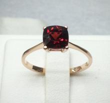 garnet ring แหวนพลอยโกเมน สีแดง พลอยแท้ ของขวัญ มีใบเซอร์ การ์เน็ต แก้ชง ดูดวง เสริมดวง ราศีมกรา